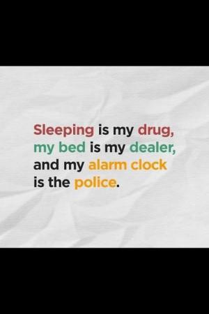 Bed sleep alarm clock