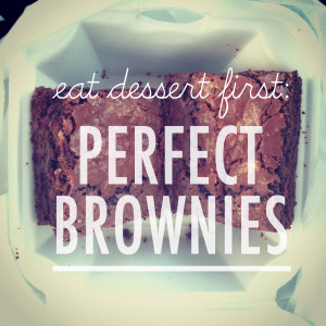 FOOD REVIEW: LOOKING FOR THE PERFECT BROWNIE