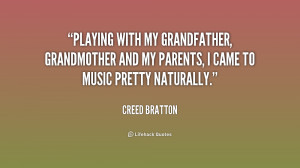 Playing with my grandfather, grandmother and my parents, I came to ...
