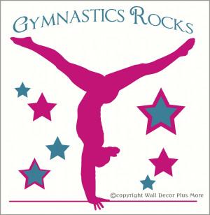 Gymnastics Sayings For Inspiration Gymnastics rocks silhouette