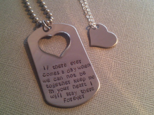 ... Quote His and Her Dog Tag Set-Military Couple, Deployment Set. $45.00