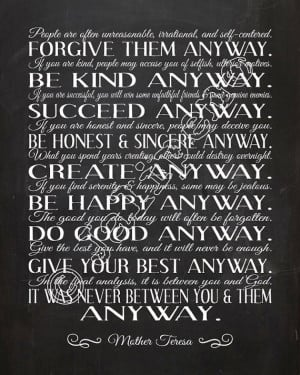 Do It Any Way Mother Teresa Quotes HD Wallpaper for your desktop ...