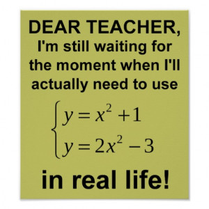 Funny Quotes Dear Math