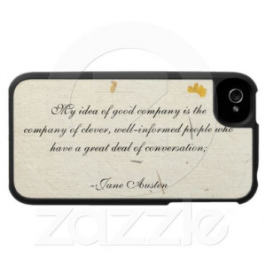 iPhone 4 Case: Famous quote from the beginning of Pride and Prejudice ...