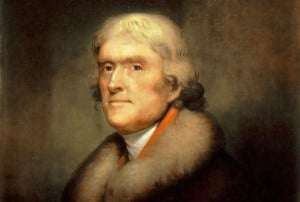 Thomas Jefferson. Painting by Rembrandt Peale, 1805. Public domain.