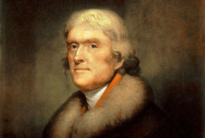 Thomas Jefferson. Painting by Rembrandt Peale, 1805. Public domain.