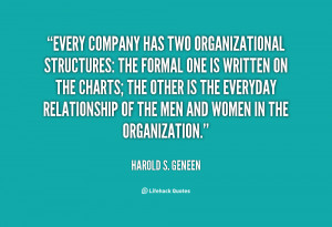 Every company has two organizational structures: The formal one is ...