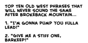 Obsolete Cowboy Phrases Since Brokeback Mtn