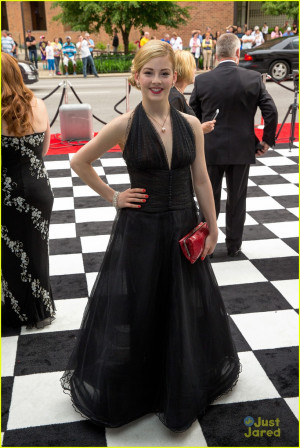 Gracie Gold goes glam in a black ball gown for the 2014 Indy 500 ...