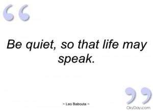 be quiet leo babouta