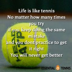 Tennis Quote: Life is like tennis. No matter how many times you try if ...