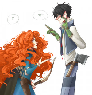 want to present you my new OTP - MERIDLER! (Once-Ler/Merida)