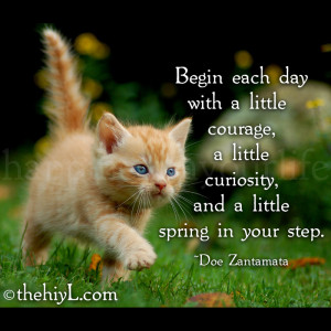 Begin each day with a little courage, a little curiosity, and a little ...