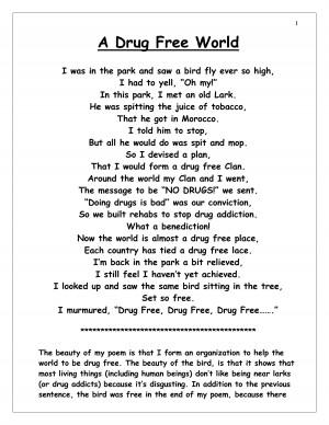 Drug Free Poems Docstoc Docs Poem