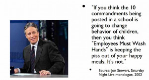 ... vicariously through Jon Stewart quotes – and my own — for 2014