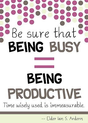 Being Busy