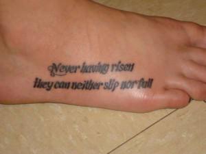 Poem Quote Tattoo