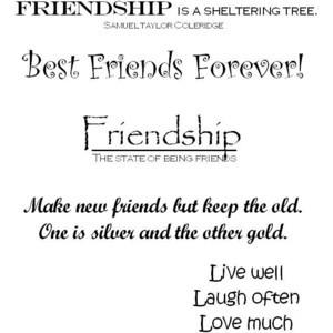 Friendship Scrapbook Quotes   My Crop Room