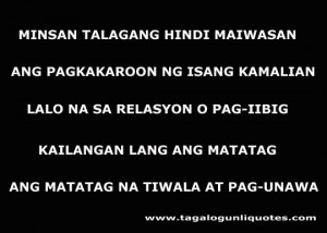 If you are searching Inspirational Tagalog Love Quote here is the one ...