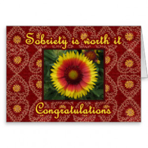 CONGRATULATIONS Sober Recovery AA Anniversary Card Card