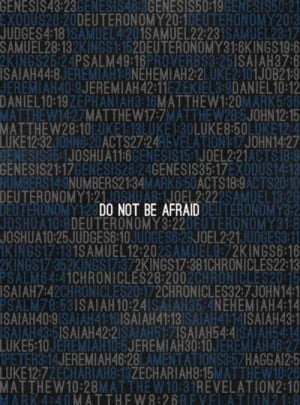Do not be afraid - Bible references