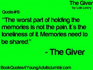 ... jonas reciever of memory memories quotes ya book quotes book quotes