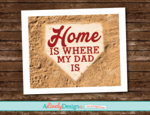 Father's Day Gift / Father's Day Quote Poster / Baseball Father's Day ...