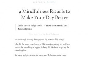 Zen Buddhist Monk 9 Mindfulness Rituals To Make Your Day Better ...