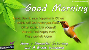 Saturday Good Morning Quotations in English, English Nice Good Morning ...