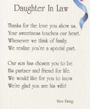 ... DAUGHTER IN LAW - AP79Best Daughter In Law Quotes, Son In Law Quotes