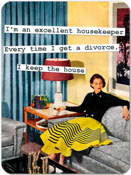 Funny Retro Magnet 05: I'm an excellent housekeeper...