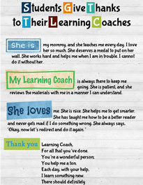 Read Learning Coach appreciation quotes.