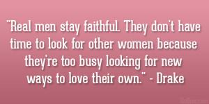 Faithful Men Quotes