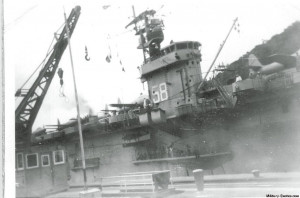 Aircraft Carrier in Panama Canal 1951