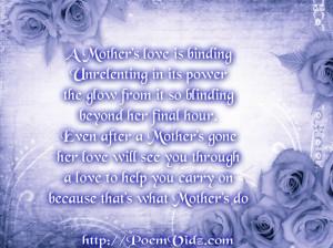 ... happy birthday poem for deceased mother birthday poems deceased mother