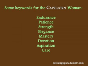 Capricorn Woman. This will be my mantra during my ultra!