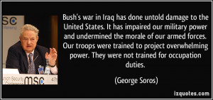 untold damage to the United States. It has impaired our military power ...