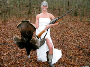 Wedding turkey hunting