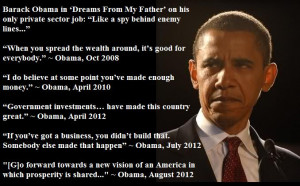 ... community organizer. You want some dumb quotes from resident obama