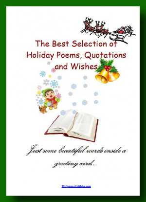 Holiday Quotes, Wishes and Poems