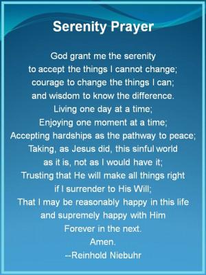 Serenity Prayer - The Serenity Prayer