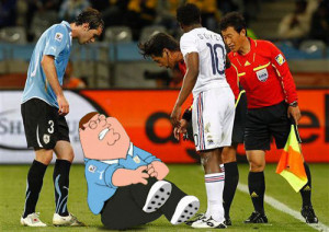 ... family guy quotes. lmao, soccer, cartoon, hurted, funny, Peter Griffin