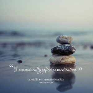 Meditation Quotes Quotes picture: i am naturally
