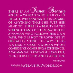inner beauty of a woman quotes