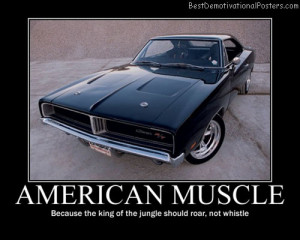 American Muscle – Because the king of the jungle should roar, not ...