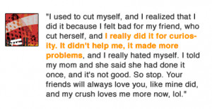 Cutting Myself Quotes