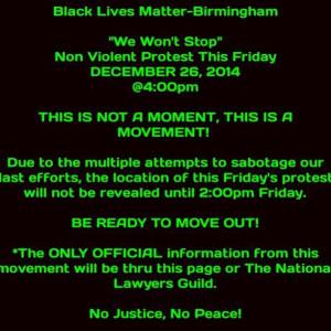 ... , posted to Black Lives Matter - Birmingham's Facebook group