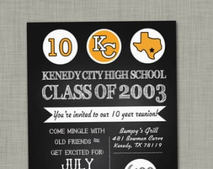 High school reunion invitation printable - family reunion invitation ...