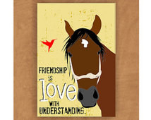 Horse Magnet Friendship is Love 2 x 3 ...