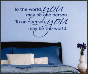 Vinyl Wall Lettering Decal Romantic Quote You are by WallsThatTalk